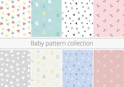 Cute baby pattern set