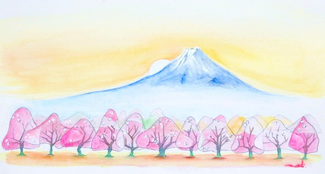 Fuji and cherry blossoms ②
