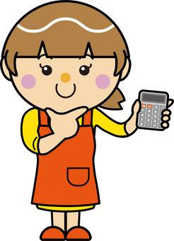 Female 21_09 (apron, calculator)