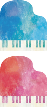 Watercolor touch piano