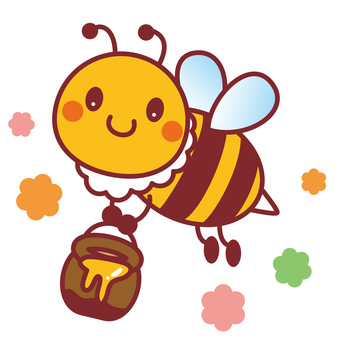 Honey bee carrying honey 2