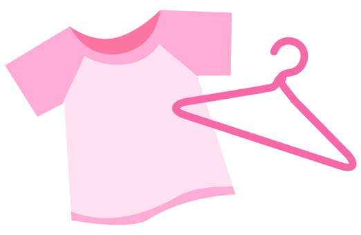 T-shirt and hanger (pink