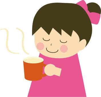 Hot drinks girls