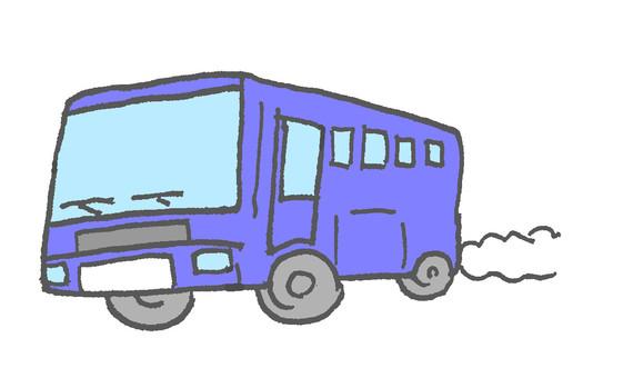 Bus blue