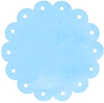 Watercolor flower frame light blue