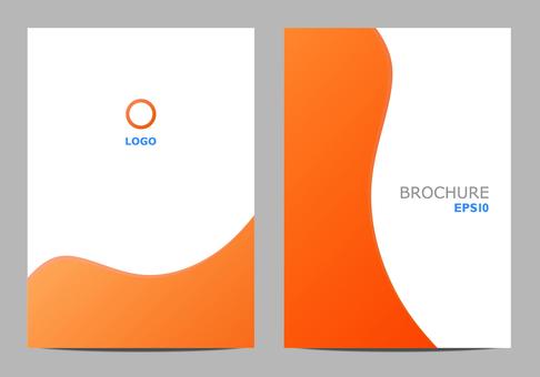 Template design curve orange