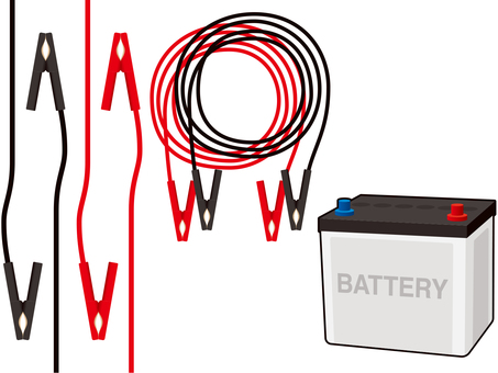 Battery and booster cable