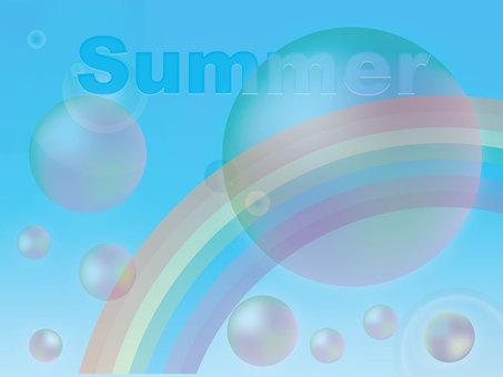 夏季的天空