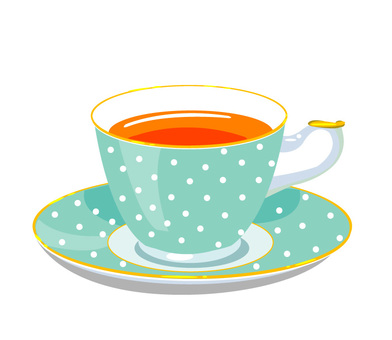 Tea cup dot pattern