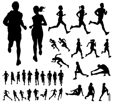 Running - Silhouette set 2