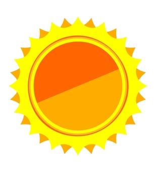 태양 이미지의 프레임 아이콘