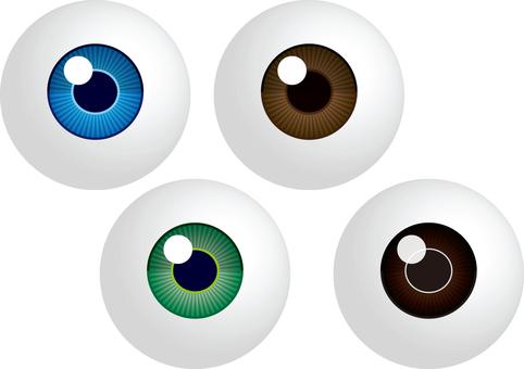 Eyeball color assortment