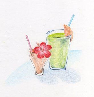 Visitation illustration drink