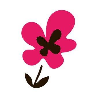 斯堪的納維亞的花(粉紅)