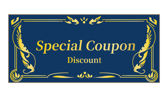 Coupon coupon without face value Navy blue