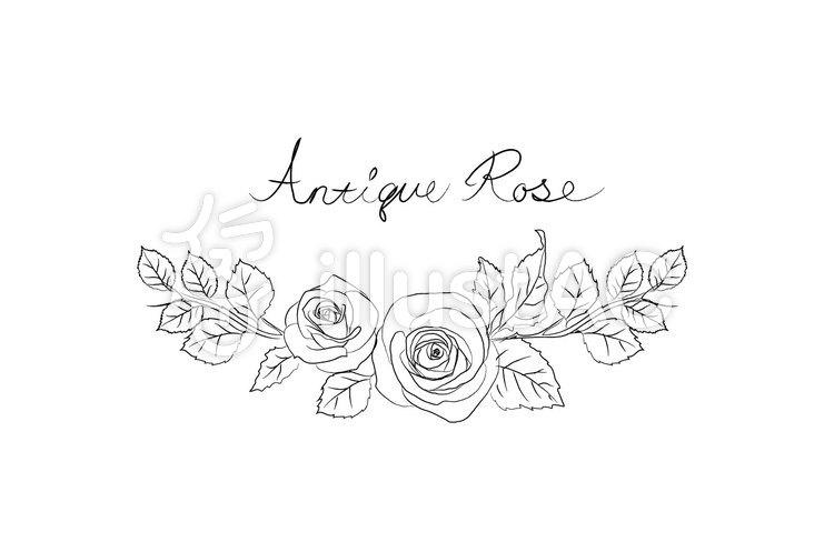 薔薇フレーム塗り絵3イラスト No 711078無料イラストならイラストac