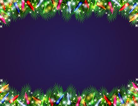 クリスマスの電球のフレーム