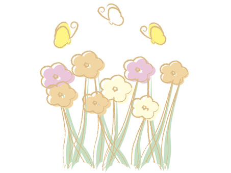 Pastel style flowers