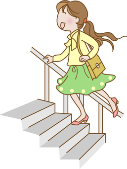 Women climbing stairs