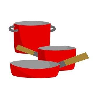 Pot frying pan set