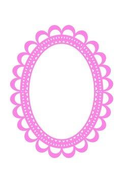 Pink oval frame