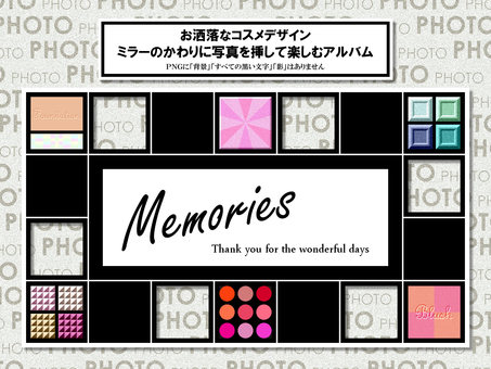 Cosmetics photo frame album memories