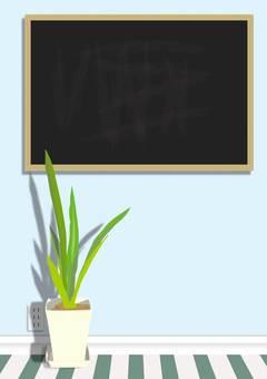 Blackboard and wall