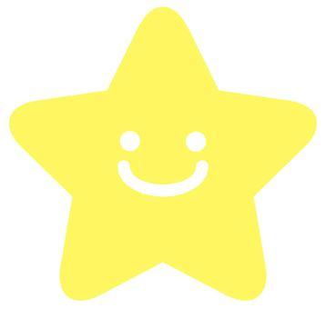 一個微笑的明星