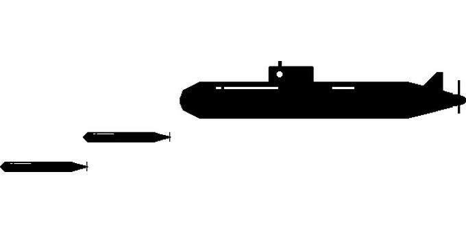 Torpedo and submarine