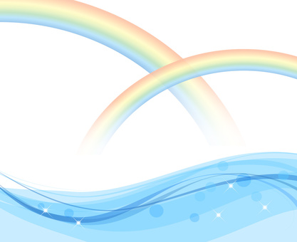 Rainbow and wave