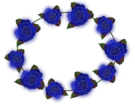 Rose blue loop