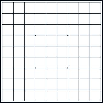 Shogi board monochrome