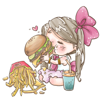Hamburger eating idol