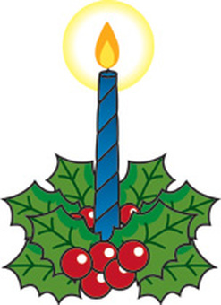 Christmas candle blue