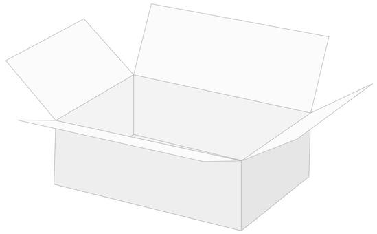 Cardboard box B1 white