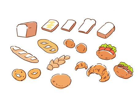 다양한 빵