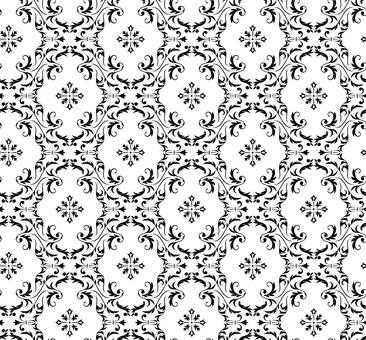 Damask pattern 3 (black)