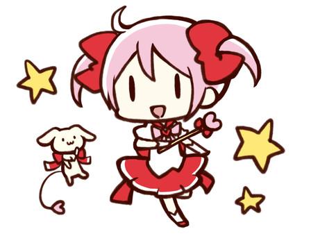 Girl using magic
