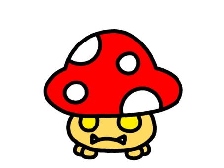 Red mushroom red