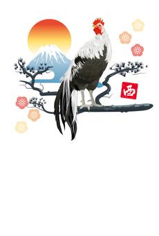 닭띠 연하장 엽서 디자인 I02