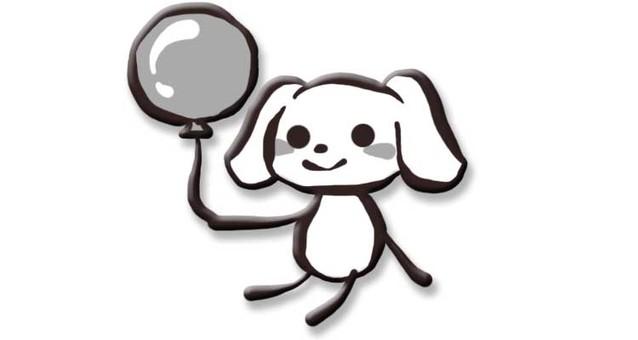 與氣球的狗