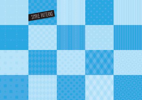 Simple pattern set BLUE