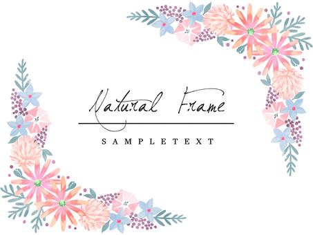 自然框架材料42粉紅色