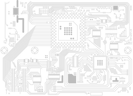 Computer board electronic illustration