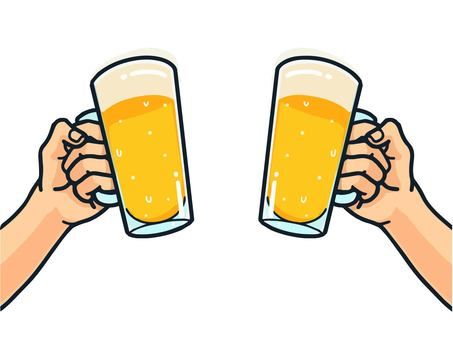 Illustration of a toast (beer)