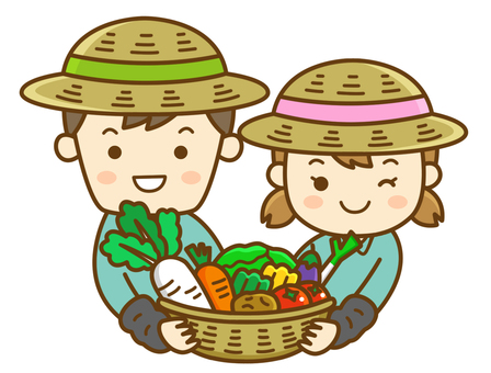 Male and female farmers