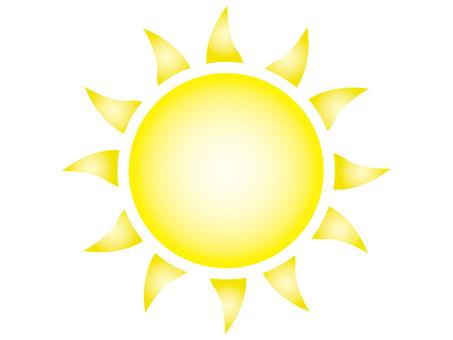Illustration of the sun B (curve, yellow)