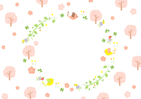 Cherry Blossoms and Birds 2