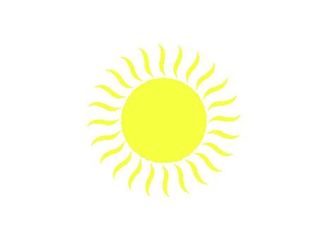 Illustration material Sun (adult cute)