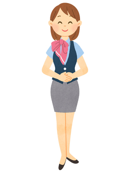Receptionist (whole body)